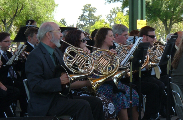 The OCB Horn Section - Concert in the Park - May 2009